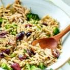 Whole-Wheat Orzo & Tuna Salad with Broccoli