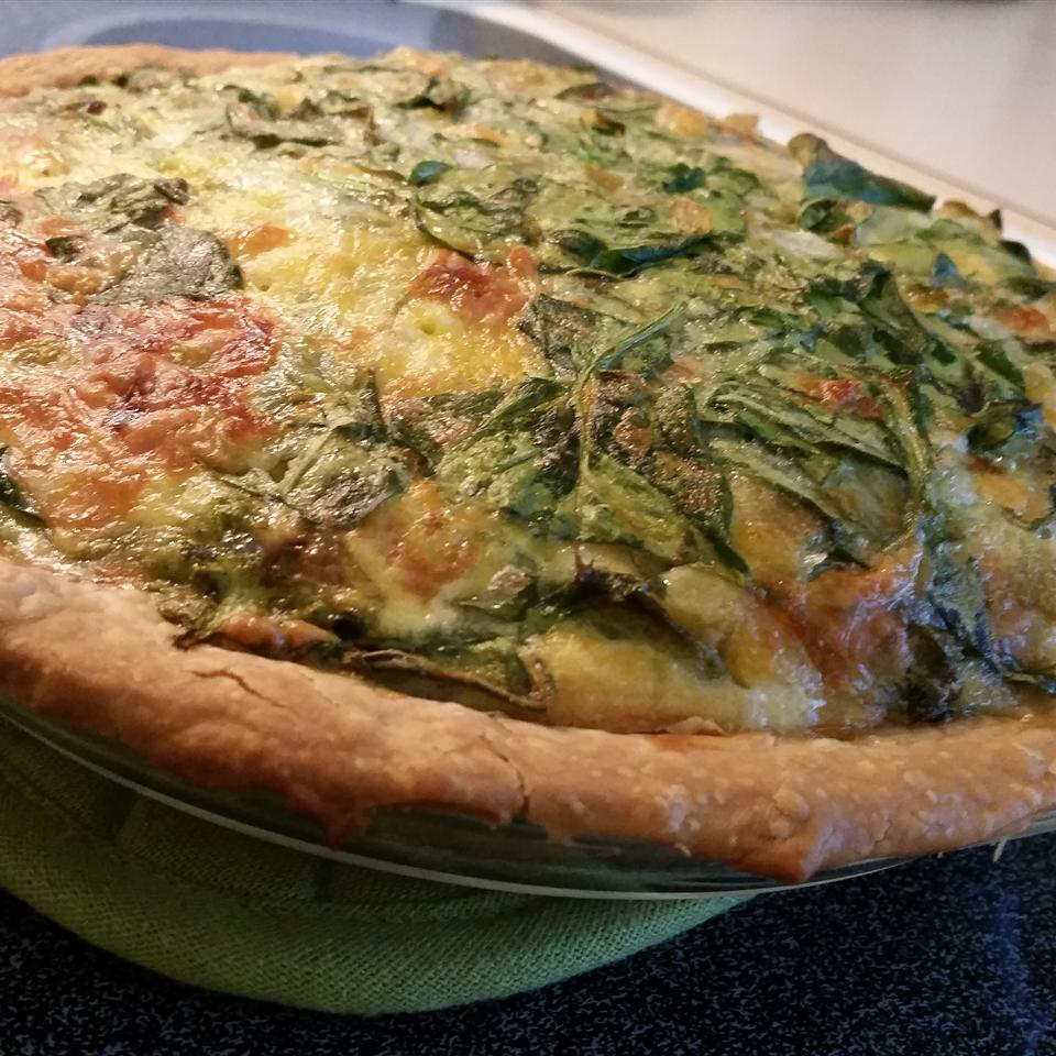 Green Chile Spinach Quiche nica36