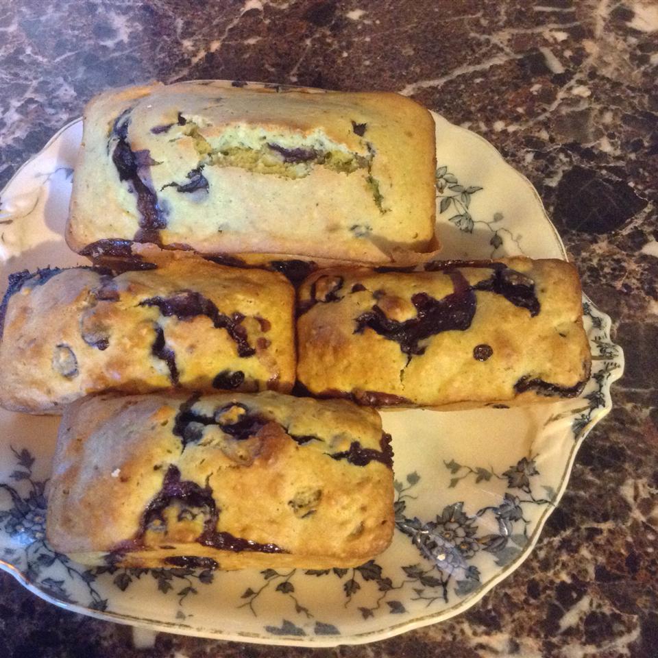 Lemon Verbena-Blueberry Muffins