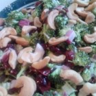 Delicious Broccoli Cranberry Salad - Sweet and tart dried cranberries add a zing to creamy, crowd-pleasing broccoli salad.