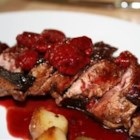 Duck Breasts with Raspberry Sauce - Duck breasts are broiled with a hint of cinnamon, then served with a tangy raspberry sauce.