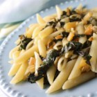 Pasta with Swiss Chard - Garden fresh Swiss chard is quickly cooked with olive oil, garlic, and capers in this quick and easy Italian-inspired meal.