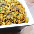 Amber's Super Stuffing - Cornbread, wild rice, and mushrooms are the base of this easy and delicious stuffing.