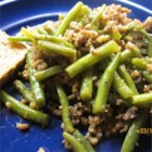 Japanese Green Beans with Beef - Green beans and browned ground beef are simmered in a sweet soy-based sauce.