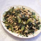 Greens and Beans - This is a simple dish using canned beans and escarole to make a tasty side or lunch depending on your appetite.