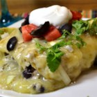 Homemade Chicken Enchiladas - These cheesy chicken enchiladas are great for the whole family.