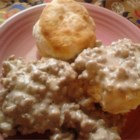 Sausage SOS ($#@% On a Shingle) - This version of the popular army dish, usually made with creamed chipped beef, uses pork sausage. Just add flour, milk, onions and seasoning and you've got the favorite for serving over biscuits or toast.