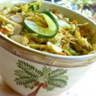 Cilantro Lime Coleslaw - A Southwestern twist on traditional coleslaw is a perfect accompaniment to liven up your next barbeque.