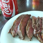 Cola Marinated Sirloin Steak - This simple cola-infused marinade uses ingredients found in your pantry delivering a flavorful grilled sirloin steak.