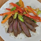 Asian Flair Flat Iron Steak - After rummaging online recipes, and experimenting with my own, I came up with this sweet and tangy sesame marinade that my husband and I find quite tasty! You can also try cooking it in your indoor (we have a Foreman) grill.