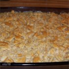Beth's Scalloped Cabbage - Cabbage is baked in a creamy white sauce of milk and American cheese.