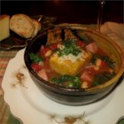 Rustic Tuscan Soup with Kale - This hearty soup with cannellini beans, chopped bacon, lots of tomatoes, chicken broth and kale is topped with Parmesan croutons and even more cheese--and it makes enough to serve a hungry crowd!