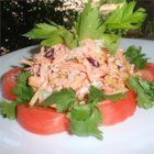 Milly's Tuna on a Shoestring - Tuna salad is tossed with shoestring potatoes for a delightful crunch.