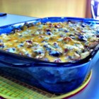 Easter Brunch Casserole - This casserole of hash browns, green chiles, and sausage is assembled the night before, and makes a welcome addition to a special brunch.
