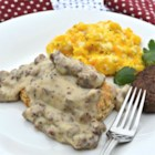 Gluten Free Sausage Gravy - Gluten-free gravy is made possible with the use of gluten-free flour whisked into the traditional ingredients for gravy.