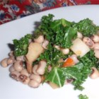 Black-Eyed Peas With Collard Greens and Turnips - Hearty black-eyed peas paired with collard greens and turnips can be a savory side dish or served over brown rice for a meatless main dish.