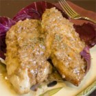 Raspberry Vinegar Chicken Breasts - Cream and tangy raspberry vinegar makes a sublime sauce for sauteed chicken.