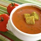 Quick and Easy Cream of Tomato Soup - Use canned diced tomatoes and whole milk to make a delicious creamy tomato soup.