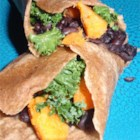 Yam and Kale Wrap - This delicious and healthy wrap is made from fresh farmer's market ingredients, like kale and yams.
