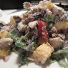 Chicken Salad with Mango Chutney - Chicken salad with an Indian-inspired twist of mango chutney and curry powder is quick and easy to prepare. Dried cranberries, raisins, or pineapple chunks can also be added.