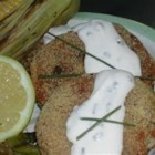 Super Easy Salmon Cakes - This simple mixture of salmon, green onions and crushed crackers is easy to prepare!