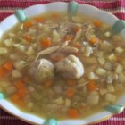 Bubbie's Hearty Matzo Ball Soup - Homemade chicken matzo ball soup is full of sweet, earthy root vegetables and chopped dill for an updated version of a vintage recipe handed down for generations. Perfect for Passover, but you'll want to make it all year.