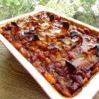 Bar-B-Q Baked Beans - This dish is a bonanza of baked beans! Chili sauce adds a little spiciness. Don't be dissuaded by the lima beans - they blend into the mix wonderfully!