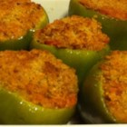 Healthier Stuffed Peppers - Brown rice, lean ground beef, and fresh bell peppers make this stuffed pepper dish healthier than the original, as well as being colorful and flavorful.