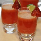 Strawberry Beer Margaritas - These beer margaritas get a flavorful twist with the addition of tequila-soaked strawberries!