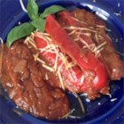 Veal Scallopini in a Sweet Red Pepper Sauce - Tender veal cutlets are pan-fried in a coating of seasoned crumbs and simmered in a red bell pepper-and-tomato sauce in this Italian-inspired dish.