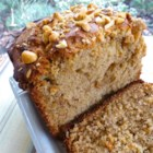 Simple Peanut Butter Banana Bread - Classic banana bread with a generous helping of peanut butter makes this easy loaf a delicious breakfast treat or snack.