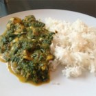 Chicken Saag - The classic Indian chicken and spinach dish gets richness from sour cream.