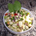 Apple and Zucchini Salad - Apples and zucchini are tossed in a basil vinaigrette for a quick and easy salad.