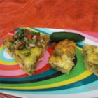 Jalapeno Cocktail Squares - Just three easy ingredients--eggs, cheddar and chiles--make a baked strata-like snack that's served with a fork or toothpicks.