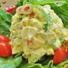 Egg Salad III - This is a great egg salad recipe that a woman I babysat for made! The key ingredient is the chopped pimento stuffed olives.