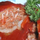 Turkey Cabbage Rolls - This is my version of cabbage rolls using ground turkey instead of ground beef. This dish freezes well, so you can have half for dinner and freeze the other half for another time. Mashed potatoes make a good side dish.