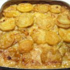 Fisherman's Pie - This cheesy casserole has moist chunks of fish in a rich white sauce and is a great way to use up leftover mashed potatoes.
