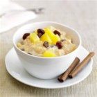 Easy Rice Pineapple Pudding - This is a fun, fast and easy take on that traditional comfort food, rice pudding. The pineapple adds a sweet, irresistible zing.