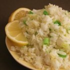 Garlic Fried Rice - Garlic, onions, and lemon juice to add interest to plain white rice.