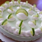 Frozen Margarita Pie - All the fixings for margaritas are mixed with a creamy filling creating a refreshing Mexican-inspired pie perfect for Cinco de Mayo parties.