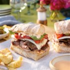 Grilled Flank Steak and Sriracha Mayo - This is a great east meets west dish.  It's a steak sandwich kicked up with Kikkoman Sriracha Mayonnaise!