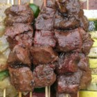 Indonesia Sate (Meat Kabobs) - Fragrant skewers of beef (or chicken, or pork) are are marinated with traditional Indonesian spices.
