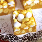 Butterscotch Squares - An 11 on a scale of 1 to 10!  Fantastic flavor of butterscotch and peanut butter with the crunch of crisp rice cereal.