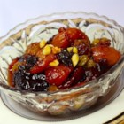Really, Truly Gorgeous Dried Fruit Salad - A gorgeous fruit salad composed of soaked, cooked dried fruits with pine nuts and just a hint of honey. It's nice served cold with yogurt and a sprinkling of Demerara sugar.