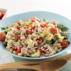 Mediterranean Bean Salad from ATHENOS - Bring a bowlful of color to your healthy eating plan. Food should look as good as it tastes, and this salad of beans, veggies and cheese delivers in every way.