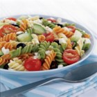 Feta and Vegetable Rotini Salad from ATHENOS - Dare we say WOW when talking about a pasta salad? In this case, absolutely. Zesty dressing, feta and crisp, fresh veggies unite for a zingy response to 'What should I bring?'