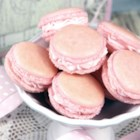 Macarons - Fancy French macarons are light meringue cookies made with almond meal. You can color them with pastel shades and fill them will all kinds of fillings such as buttercream, ganache, or jam.