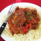 Easy and Quick Swiss Steak - This was my favorite growing up. I was amazed when I was older and asked my mom for the recipe how EASY it is! A small amount of prep. time, a day in the slow cooker, and you'll be amazed! It sounds too simple to be good... TRUST me! This gets RAVE reviews when we make it! The amount of vegetables is only an estimate. Use as many or as few as you choose. When it's done, you will have a yummy gravy, and will have to carefully dig for the steak pieces.