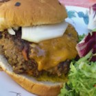 Mad Cow Hamburger - These hamburgers are a huge improvement on the normal, plain hamburger. I think that is what is making all of those cows so mad! Onions, bell peppers and jalapenos - along with black beans and zesty seasonings - fire up these bad boys!