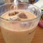 Cappuccino on Ice - Strong brewed coffee mixed with sweetened condensed milk and half-and-half served over ice.